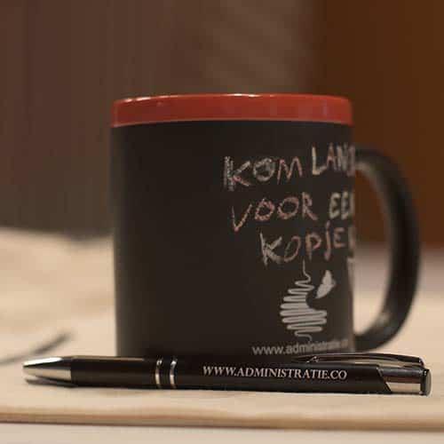 Kopje koffie voor de startup